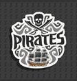 logo for pirate theme vector image vector image