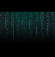 matrix background streaming binary code falling vector image vector image