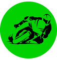 motorcycle racer speed round icon eps vector image vector image