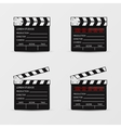 Movie clapperboard set vector image vector image