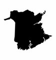 new brunswick province dark silhouette map vector image vector image
