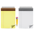 notepad and pencil vector image