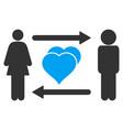 people exchange love icon vector image vector image