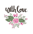 Poster template - with love Wedding marriage save vector image vector image