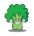 Proud broccoli chracter cartoon style vector image