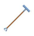 rake gardening tool vector image