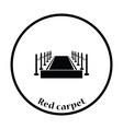 Red carpet icon vector image vector image
