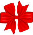 red gift bow isolated on white background vector image