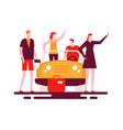 road trip - colorful flat design style vector image vector image