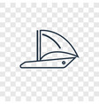 round sailboat concept linear icon isolated on vector image vector image
