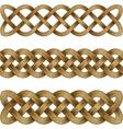set bronze celtic braids vector image