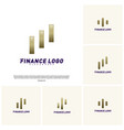 set of stats financial advisors logo design vector image vector image