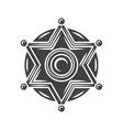 sheriff badge black icon logo element isolated vector image