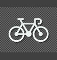 silhouette a bicycle cut out paper with a vector image