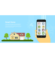 smart home 2 vector image