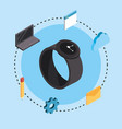 smartwatch technology with data services connect vector image vector image