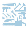 tools silhouettes home wizard toolkit diy vector image