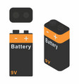 traditional battery 9v dark colors vector image vector image