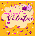 Valentines Day Greeting Card Lettering vector image vector image