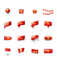 vietnam flag on a white vector image vector image