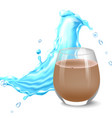 water splashes in blue colors around a transparent vector image