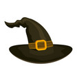 witch hat holiday halloween character halloween vector image