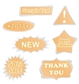 paper labels vector image
