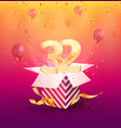 32 th years anniversary design element vector image vector image