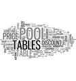 a guide to discount pool tables text word cloud vector image vector image
