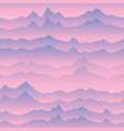 abstract wavy mountain skyline background nature vector image vector image