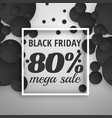 amazing black friday sale poster banner with dark vector image vector image