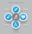 antibiotic icons set collection of rhythm vector image vector image