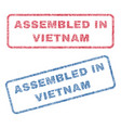 assembled in vietnam textile stamps vector image vector image