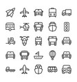 automobile line icons 4 vector image vector image