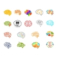 Brain Icon Set Set vector image vector image