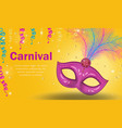 bright carnival poster invitation greeting card vector image vector image