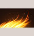 burning fire flame on black vector image
