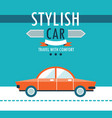 car on the road stylish car travel with comfort vector image vector image