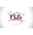 chile welcome to word text with handwritten font vector image