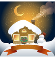 christmas card with banner vector image vector image