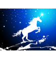 Christmas Magic Horse vector image