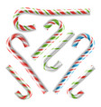 classic xmas candy cane isolated on white vector image vector image