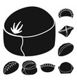 cuisine and appetizer icon vector image