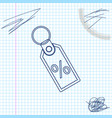 discount percent tag line sketch icon isolated on vector image vector image