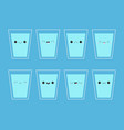 drink water eight glass cup water icon steal vector image