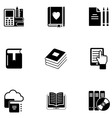 e book icon set vector image vector image