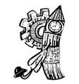 england symbols set with big ben ambrella hat vector image