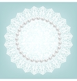 fabric doily and pearls vector image vector image