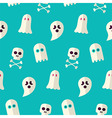 Flat Seamless Scary Ghost and Spirit Halloween vector image vector image