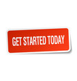 get started today vector image vector image
